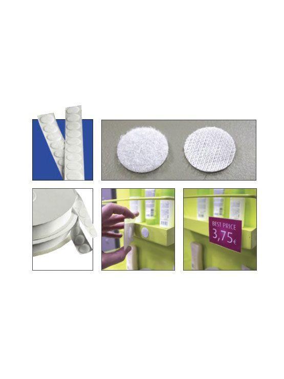 Detalle de los Botones adhesivos velcro