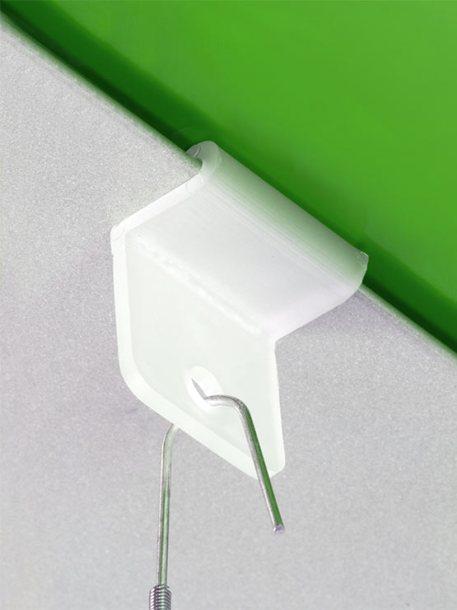 Clip para raíl vertical ejemplo
