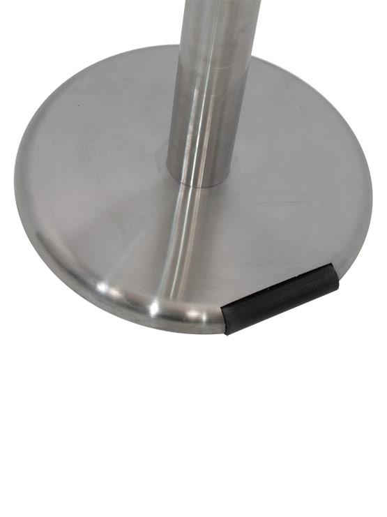 Poste separador con rueda detalle base