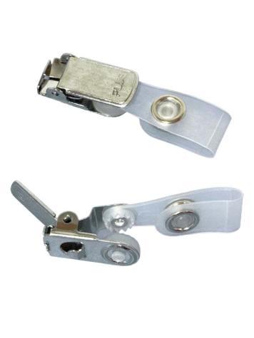 Abrazadera con clip metálico
