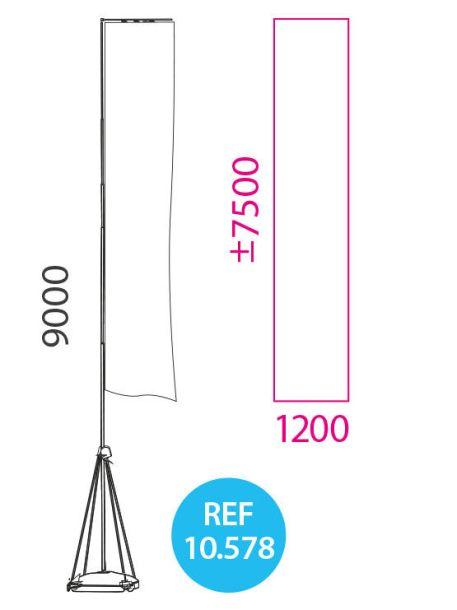 banderola publicitaria nueve metros