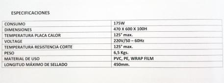 Envolvedora de Film Transparente caracteristicas imagen 6
