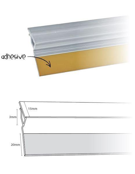 Perfil Bisagra Adhesivo imagen 2