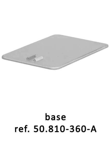 Peana Porta Cartel detalle base
