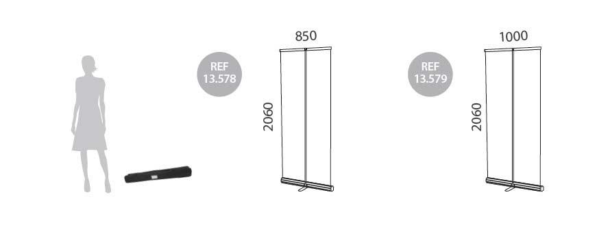 RollUp base triangular medidas