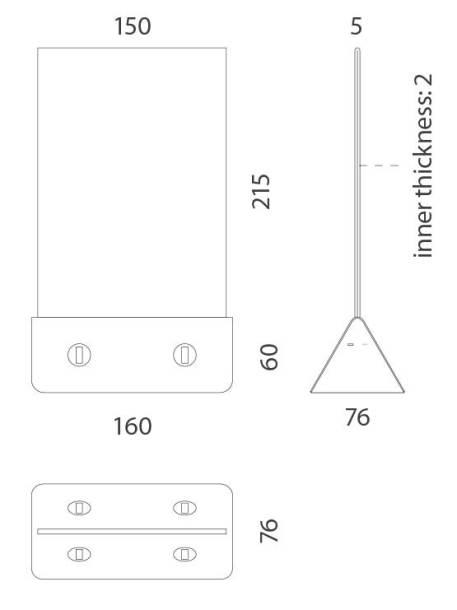 Cargador de móviles con display medidas