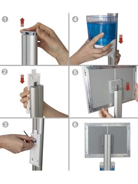 Soporte con dispensador automático y marco montaje