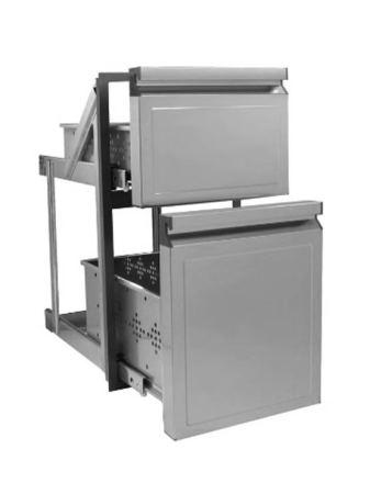 Cajón frigorífico doble asimétrico