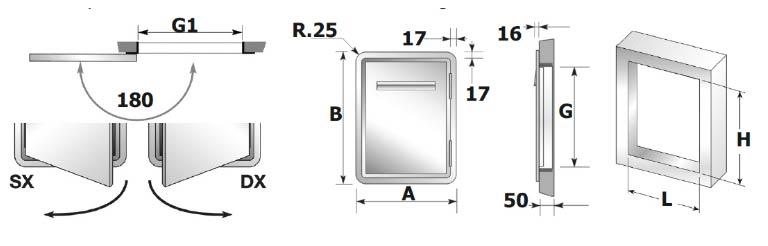 Medidas de la puerta frigorífica +6º