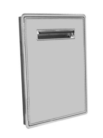 Puerta frigorífica con resistencia -18º fabricada totalmente en acero inox AISI-304