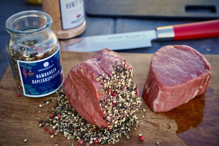 Steaks mit Hamburger Kapitänspfeffer