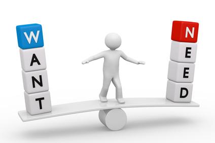 Desire: Differentiating between Needs vs. Wants – Sherline's Watchu Thinkin' Blog
