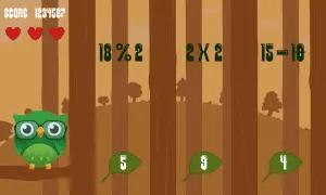 clever owl, math arcade screen, ui art, user interface, play screen