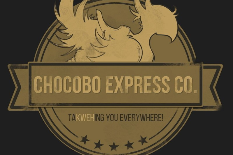 chocobo, final fantasy, chocobo express, cute, logo, fan art,
