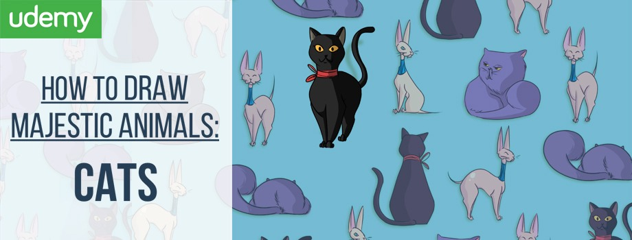 how to draw cats, draw cats, learn to draw, learn to draw cats, kittens, kittys, digital art, digital painting, sketching, udemy course, udemy coupon