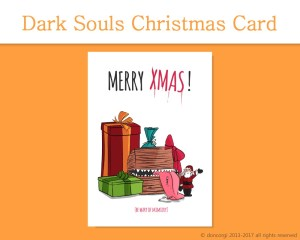 """Dark Souls Printable Christmas Card, and 7 more on Etsy! by Don Corgi (""""Be Wary of Mimicry!"""")"""