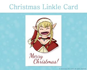 "Legend of Zelda Printable Christmas Card, and 7 more on Etsy! by Don Corgi (""Merry Christmas!"" from Linkle)"