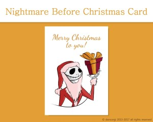 Nightmare Before Christmas - Jack Skellington Card now on our Etsy Shop by Don Corgi 8 Printable Cards that you can Download Right Now!
