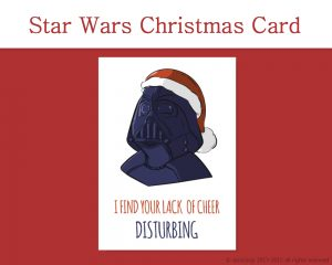 Star Wars Printable Christmas Card, and 7 more on Etsy! by Don Corgi
