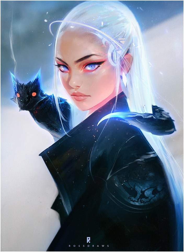 Daenerys and Dragon by Ross Tran aka Ross Draws on Deviantart - Don Corgi Inspirational Tuesday