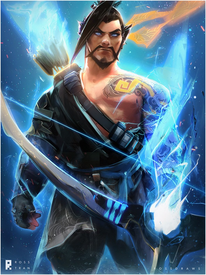 Hanzo by Ross Tran aka Ross Draws on Deviantart - Don Corgi Inspirational Tuesday