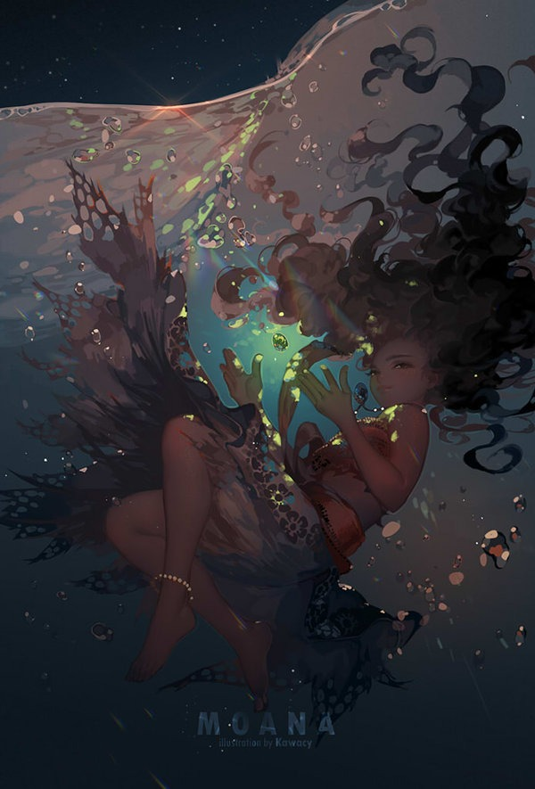 Heart of the sea by Kawacy on Deviantart, Inspirational Artist - Don Corgi