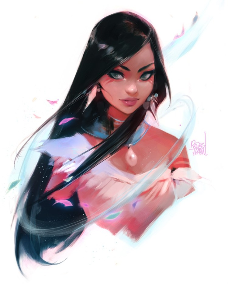 Pocahontas by Ross Tran aka Ross Draws on Deviantart - Don Corgi Inspirational Tuesday