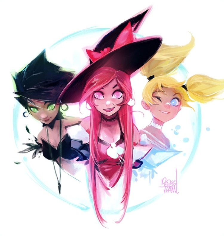 Powerpuff girls by Ross Tran aka Ross Draws on Deviantart - Don Corgi Inspirational Tuesday