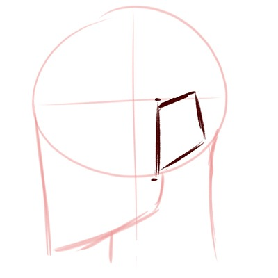 Step 1 on Drawing Elf Ears, a step by step guide.