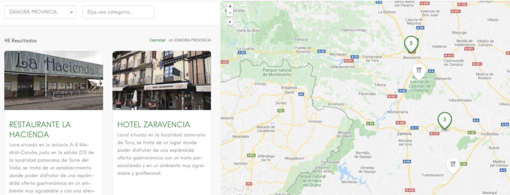 restaurantes Zamora provincia