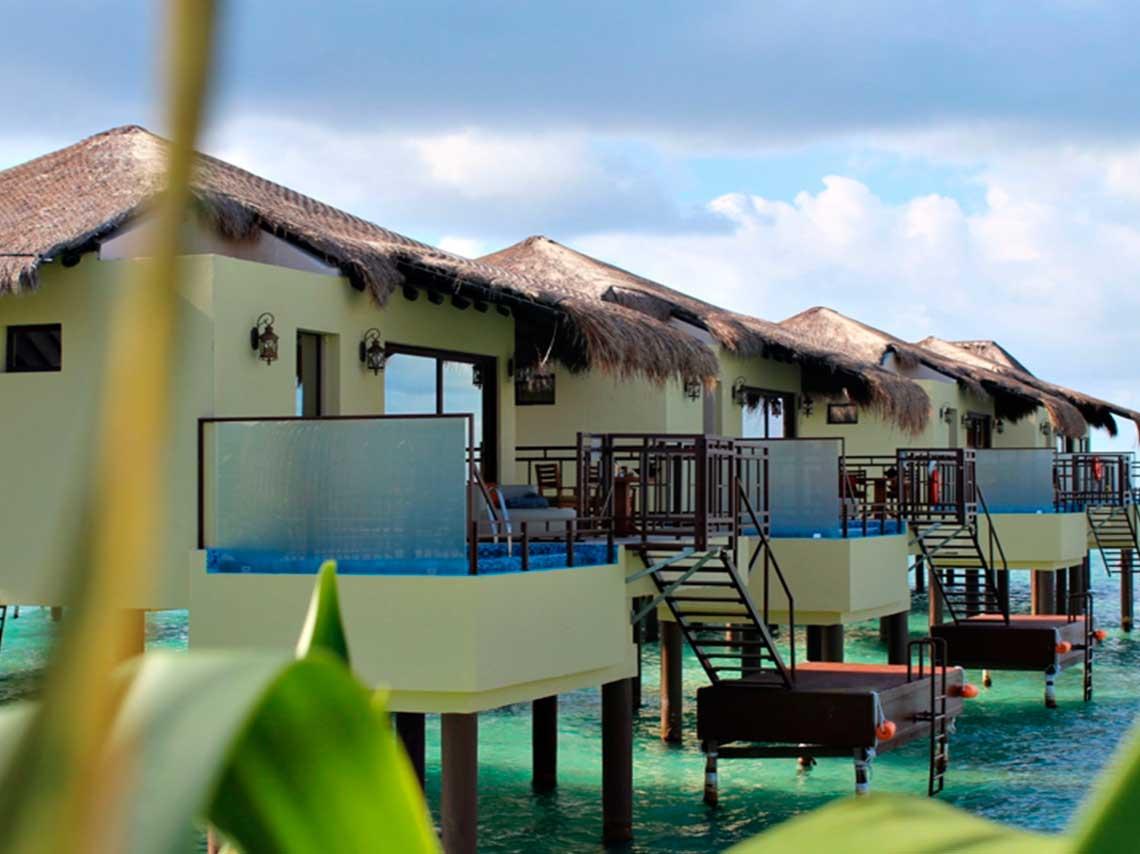 hotel con caba as sobre el mar en m xico con celo d nde On cabanas en el agua bali