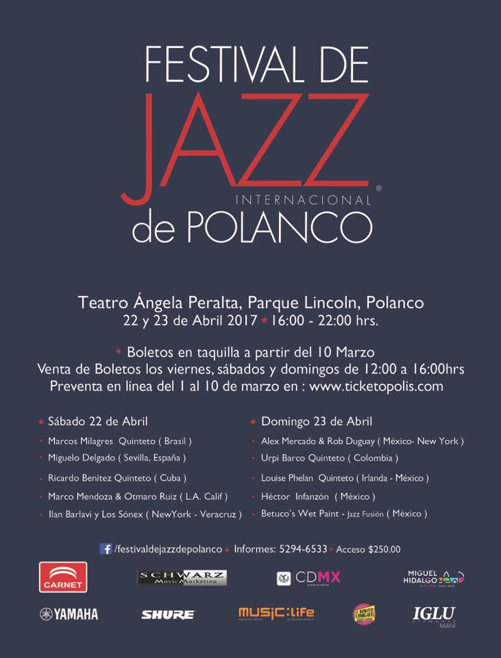 Festival de Jazz de Polanco 2017 edición de primavera