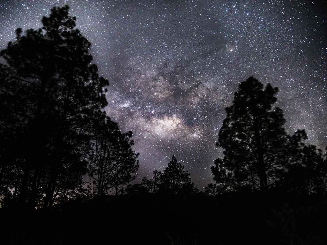 ía Láctea desde el Popocatépetl