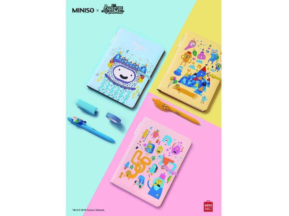Hora de Aventura en MINISO: productos de papelería
