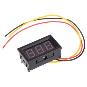 SYV099 0-99.9V three wire Alimentatore 4.0-30V Digitale Voltmetro head with reverse polarity protection per Arduino