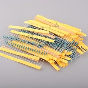 1/4 w Resistenze kits ,0R-3.6K ,50 Pezzi of 50kinds: 5.1ohm 330ohm 2.7K 10ohm 360ohm 3K 20ohm 390ohm 3.3K 22ohm 430ohm 3.6K 30o