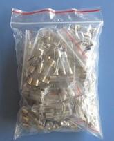 5 * 20 Fusibili Kits, 10 Pezzi of 11kinds: 0.1A 0.25A 0.5A 1A 2A 3A 5A 8A 10A 15A 20A 5 * 20 Fusibili Kits, 10 Pezzi o