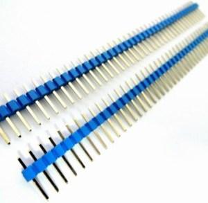 4 Pezzi Blue 1*40 2.54 in rame placcato in oro, Maschio pin header