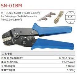 SN-01B Pinza Crimpatrice M plug spring XH2.54 SM2.54, dedicated Pinza Crimpatrices