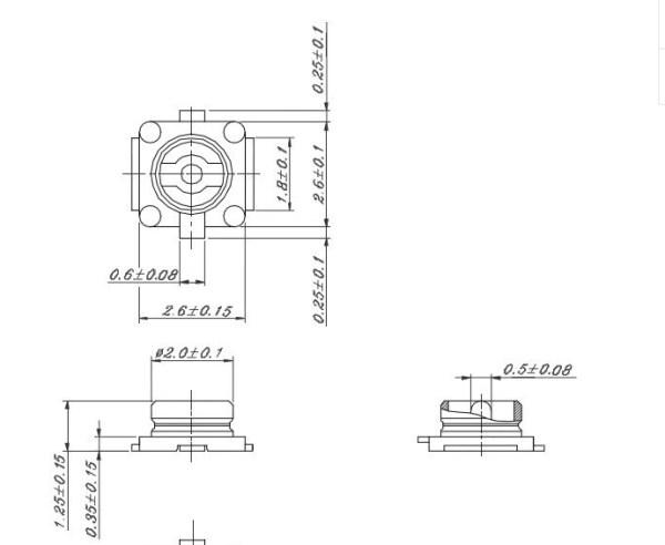 U.FL SMD Maschio Connettore