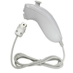 Wii Nunchuk, original quality, NINTENDO WII wired left handle