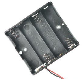 4 slot AAA contenitore batterie