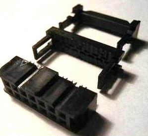 4 Pezzi 16 Position 2.54MM Pitch Femmina IDC Socket Flat Ribbon Cavo Connettore