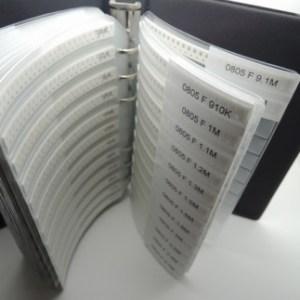 0805 SMD resistor assorted folder 170 value x 25 Pezzi chip resistor booklet