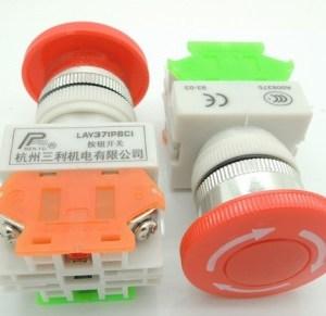 LAY37-11ZS (Y090) stopself-locking bottone Pulsanteand urgent stop Pulsante 1NO + 1NC contact