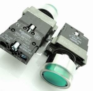 Green ZB2) sets - BW3361C Cinghiatype high quality lampbottone bottone Pulsante knob 24VOLT DC - GREEN / NO