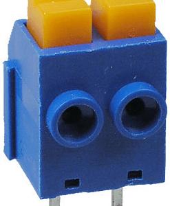 2 Pezzi XY118 5.0mm 2Pins Spring Terminal