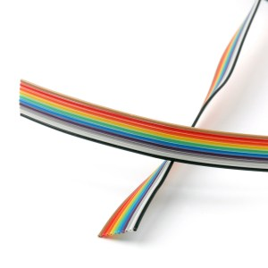 1 Metro Fascia 10 Pins Cavo Rainbow Multicolore Passo 1.27mm