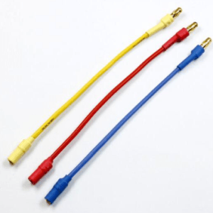 3 Pezzi Cable Banana extension 3.5MM red, yellow, blue 50CM