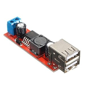 DC 6V-40V To 5V 3A Double USB Charge DC-DC Step-down Convertitore Modulo